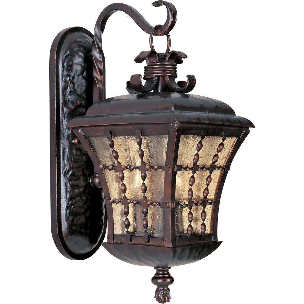 Maxim Lighting Orleans 3-Light Oil Rubbed Bronze Outdoor Wall Mount