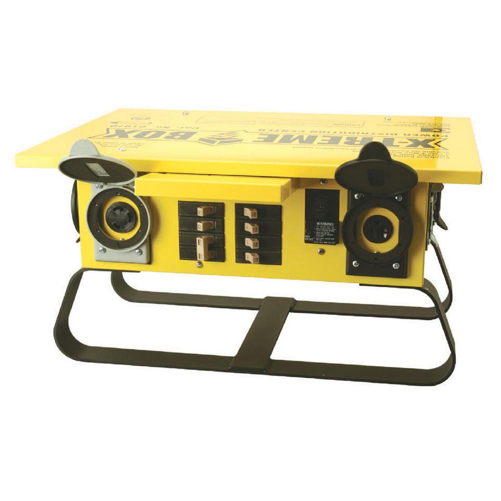 X-Treme Box 7-Outlet Straight Blade Portable Power Distributor