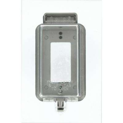 1-Gang Decora/GFCI Device While-In-Use Outdoor Cover, Clear