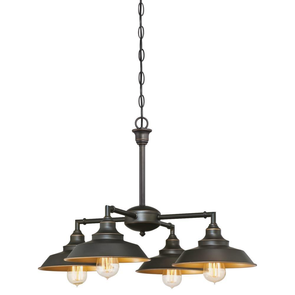 Westinghouse Iron Hill 4-Light Oil Rubbed Bronze Chandelier