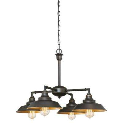 Iron Hill 4-Light Oil Rubbed Bronze Chandelier