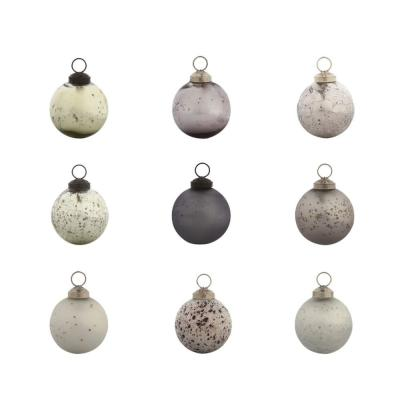 2-1/2 in. Silver Round Chic Collection Christmas Ornaments (48-Pack)