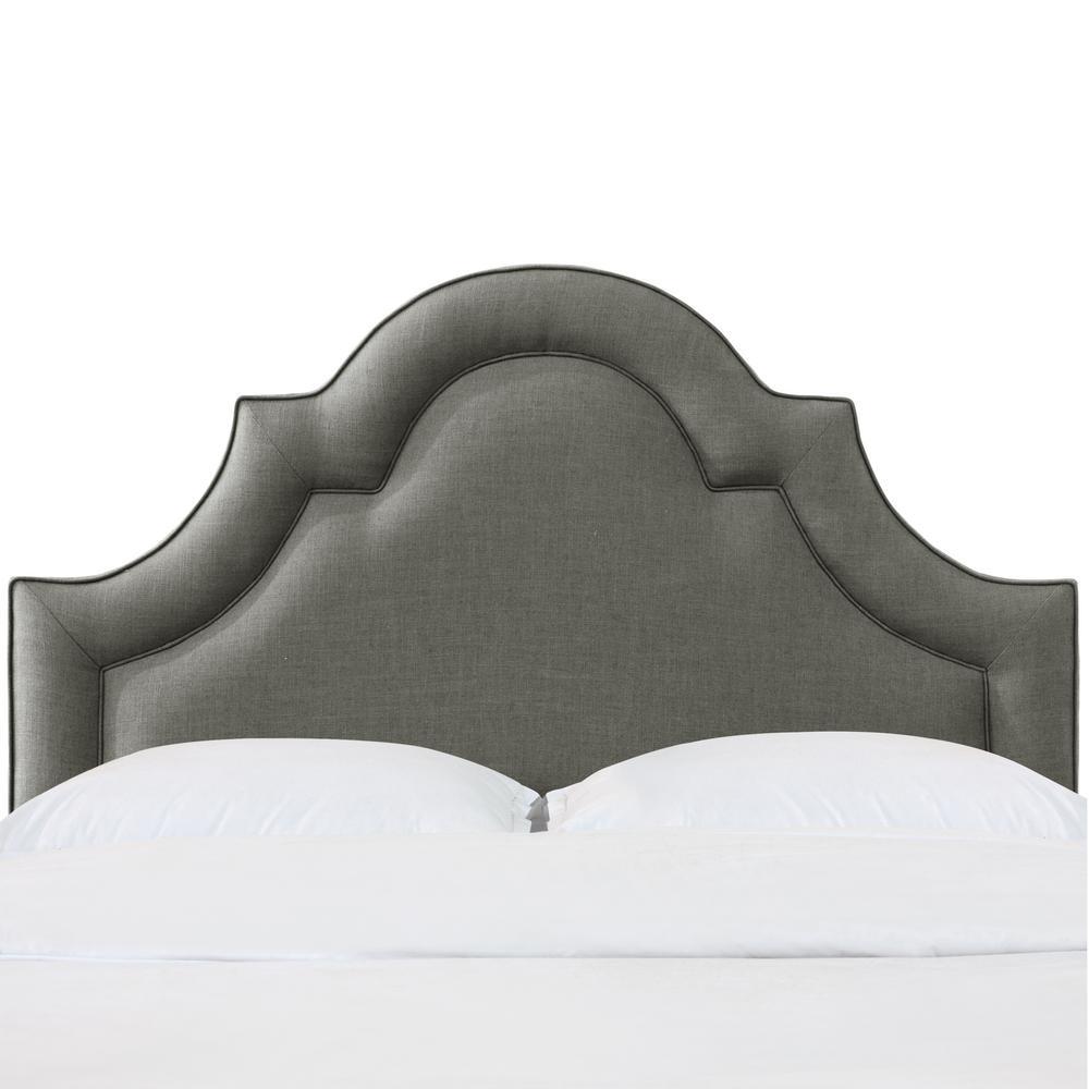 Skyline Furniture Beech Zuma Charcoal Queen Arched Border Headboard