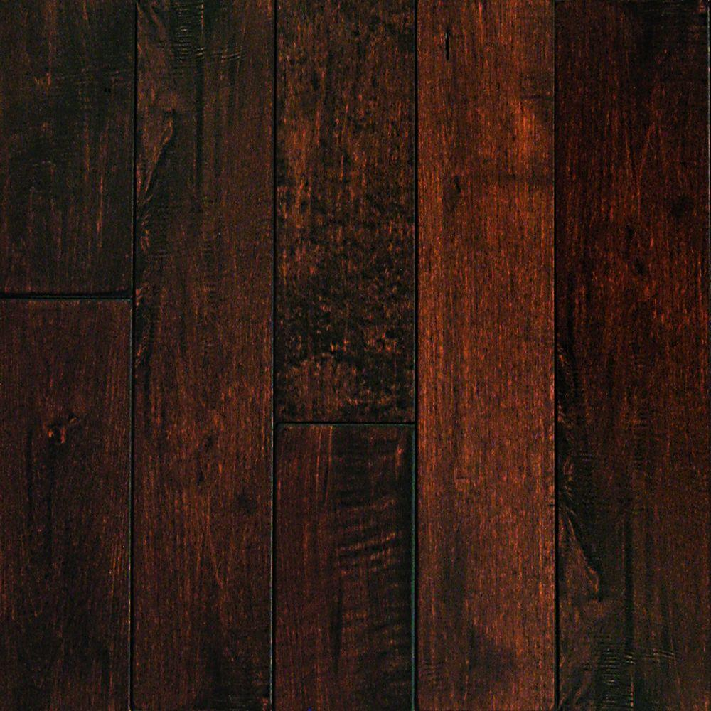 Millstead hand scraped maple chocolate 1 2 in thick x 3 for Hardwood floors 1000 square feet
