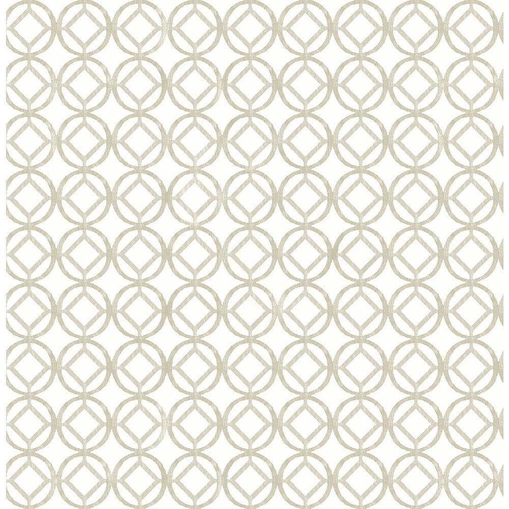 A-Street Star Bay Grey Geometric Wallpaper 2656-004053