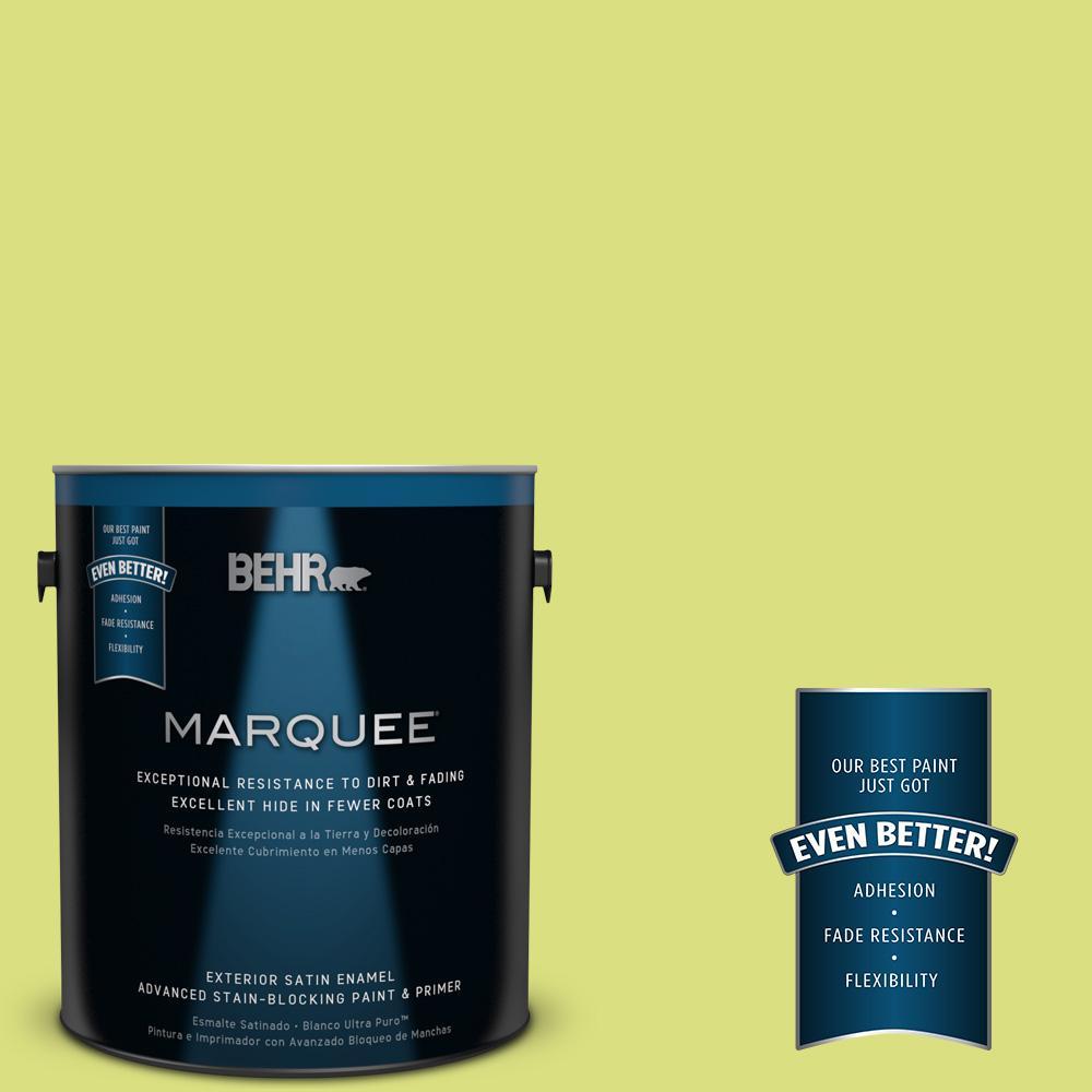 BEHR MARQUEE 1-gal. #410B-4 Carolina Parakeet Satin Enamel Exterior Paint