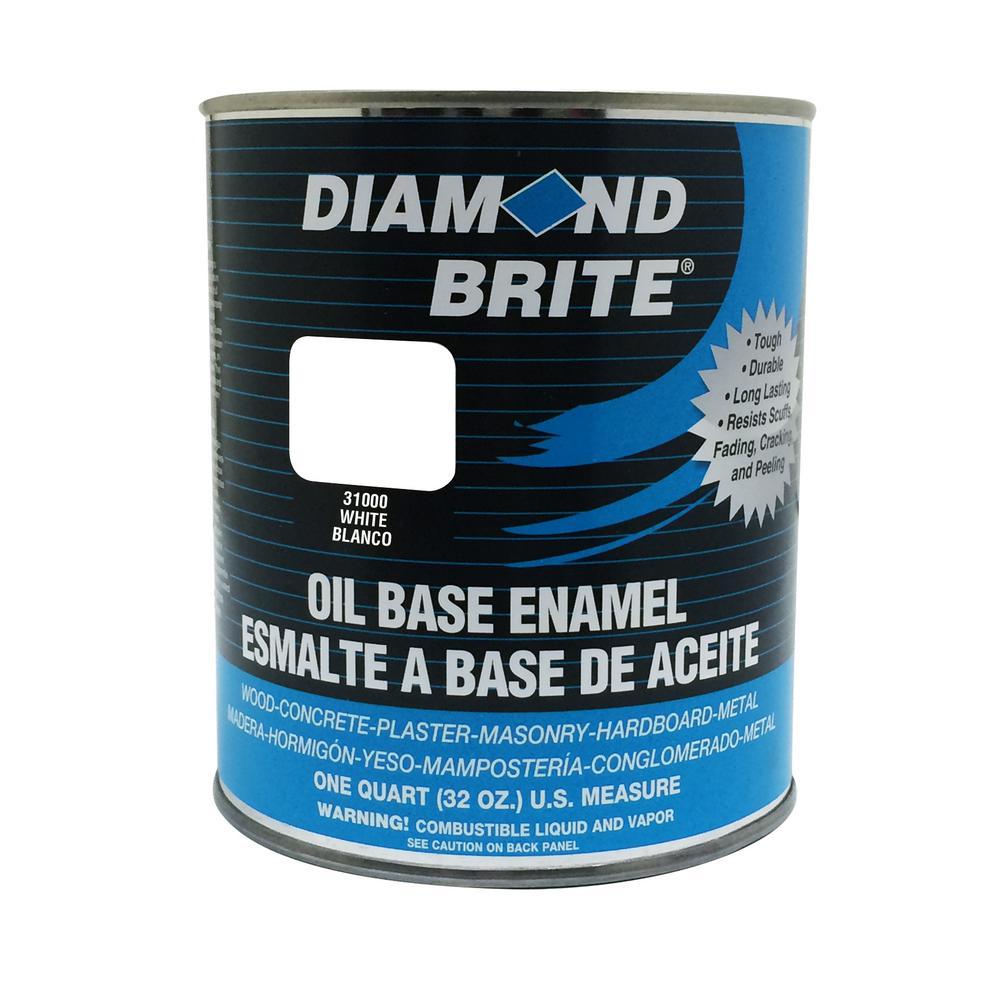 Diamond Brite Paint 1 qt. White Oil Base Enamel Interior/Exterior Paint