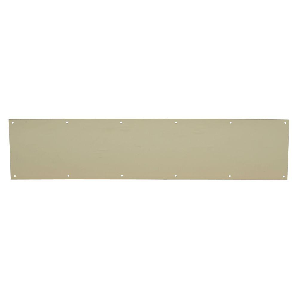 Schlage 6 in. x 30 in. Bright Brass Kick Plate
