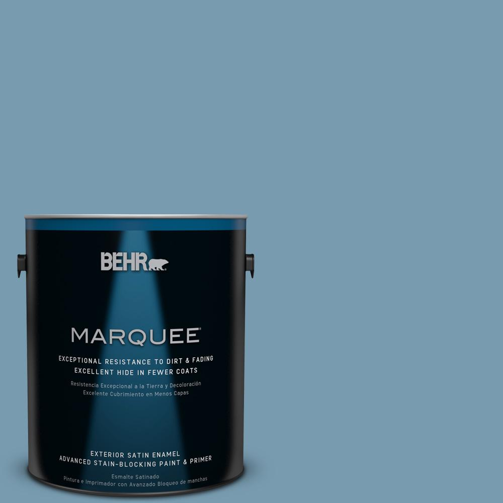 BEHR MARQUEE 1-gal. #550F-4 Cool Dusk Satin Enamel Exterior Paint