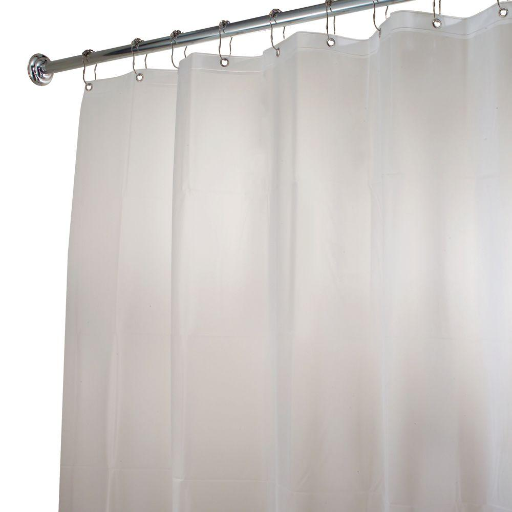 InterDesign EVA Shower Curtain Liner In Clear Frost