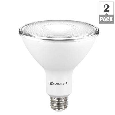 90-Watt Equivalent PAR38 Non-Dimmable LED Flood Light Bulb, Bright White (2-Pack)