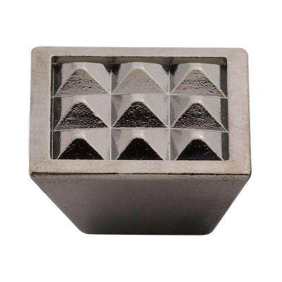 1.5 in. Black Nickel Pyramids Knob