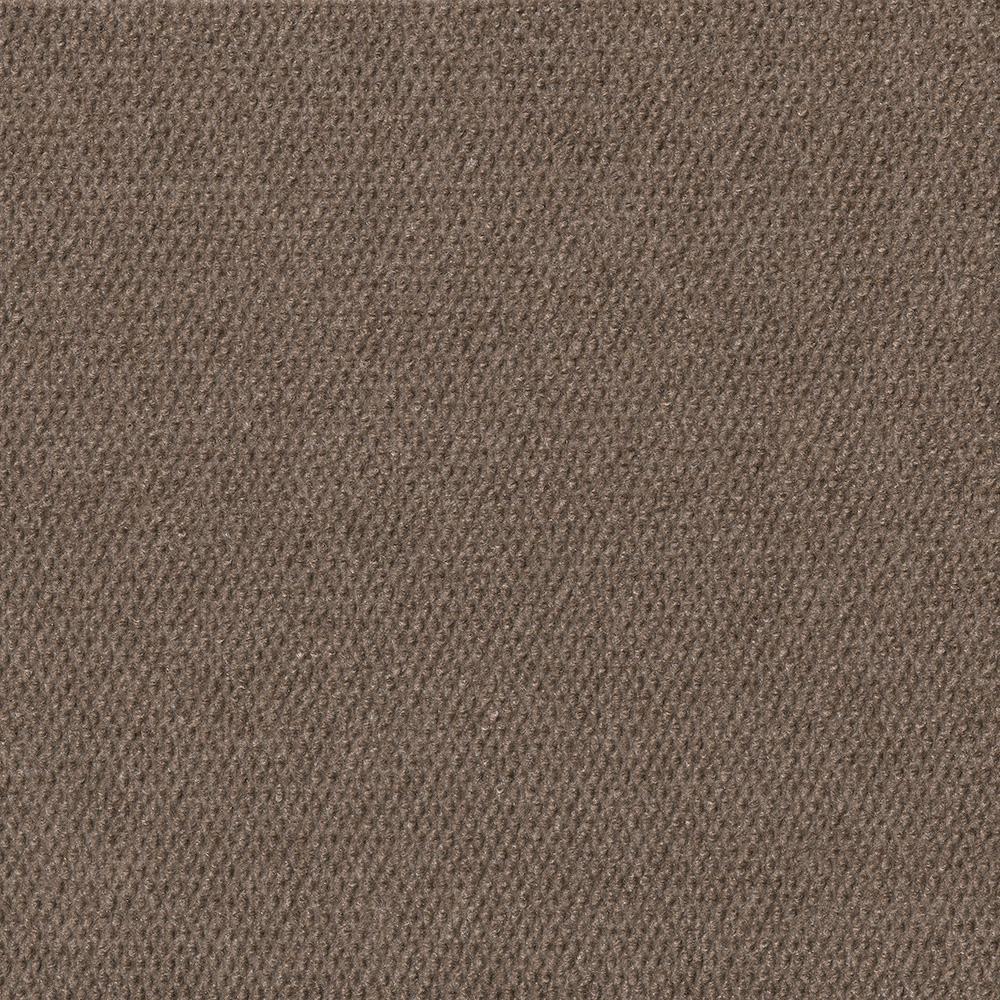 Foss Premium Self-Stick Hobnail Espresso Texture 18 in. x 18 in. Indoor and Outdoor Carpet Tile (16 Tiles/Case)