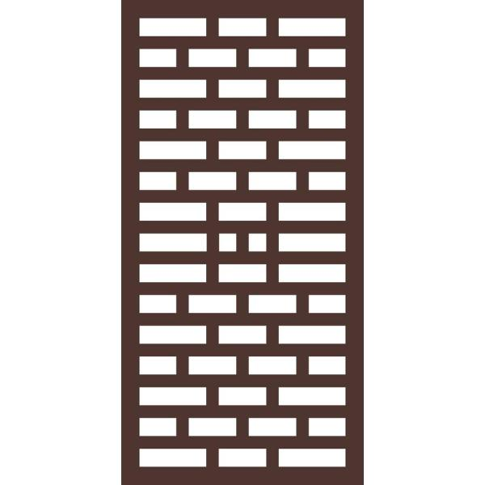 5/16 in. x 24 in. x 48 in. Mahjong Modular Decorative Hardwood Composite Fence Panel