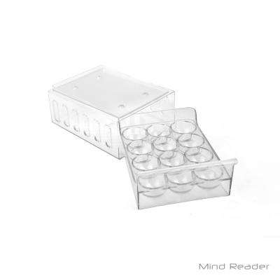 1-Dozen Stackable Egg Container Storage Drawer, Clear