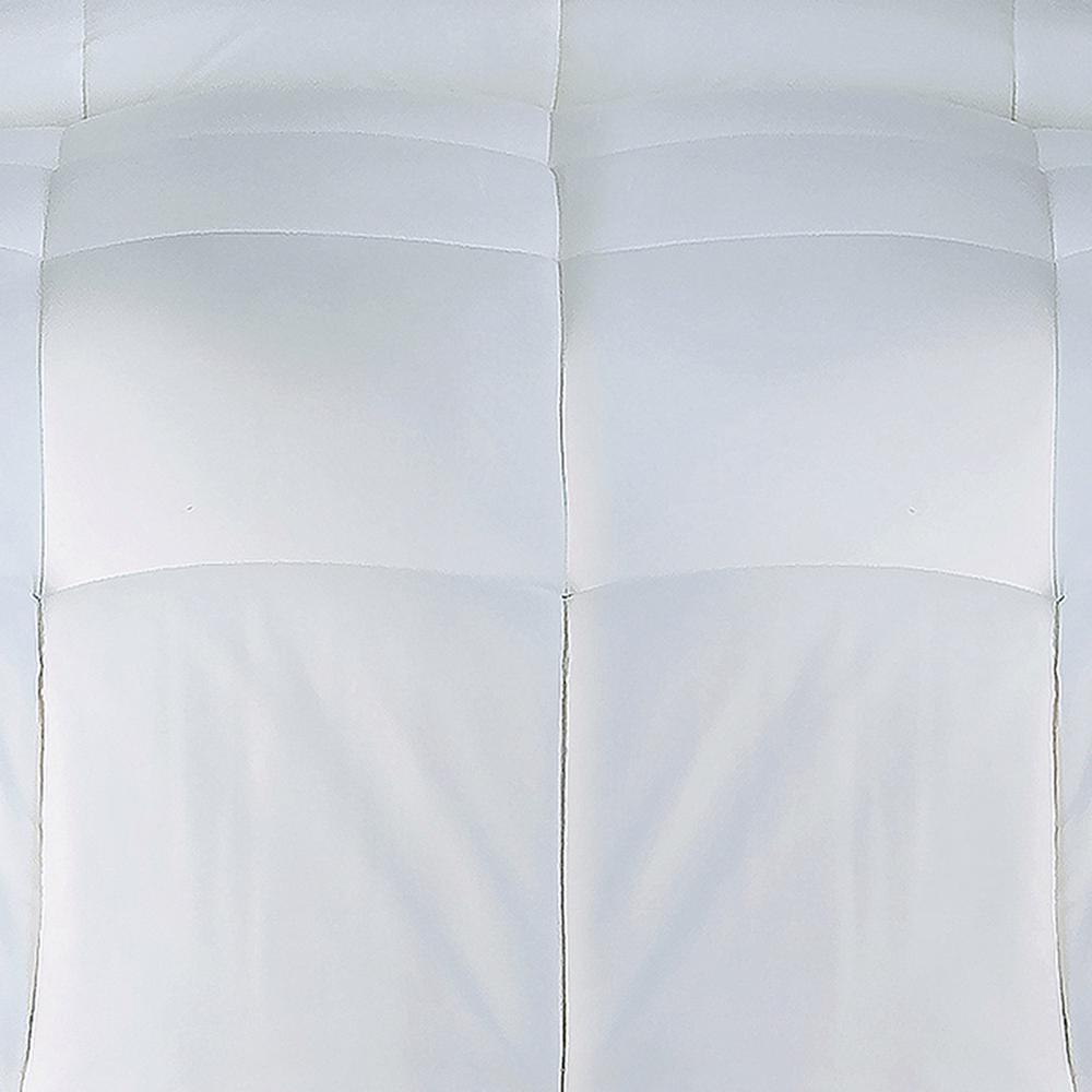 1-Piece White Twin Comforter Set