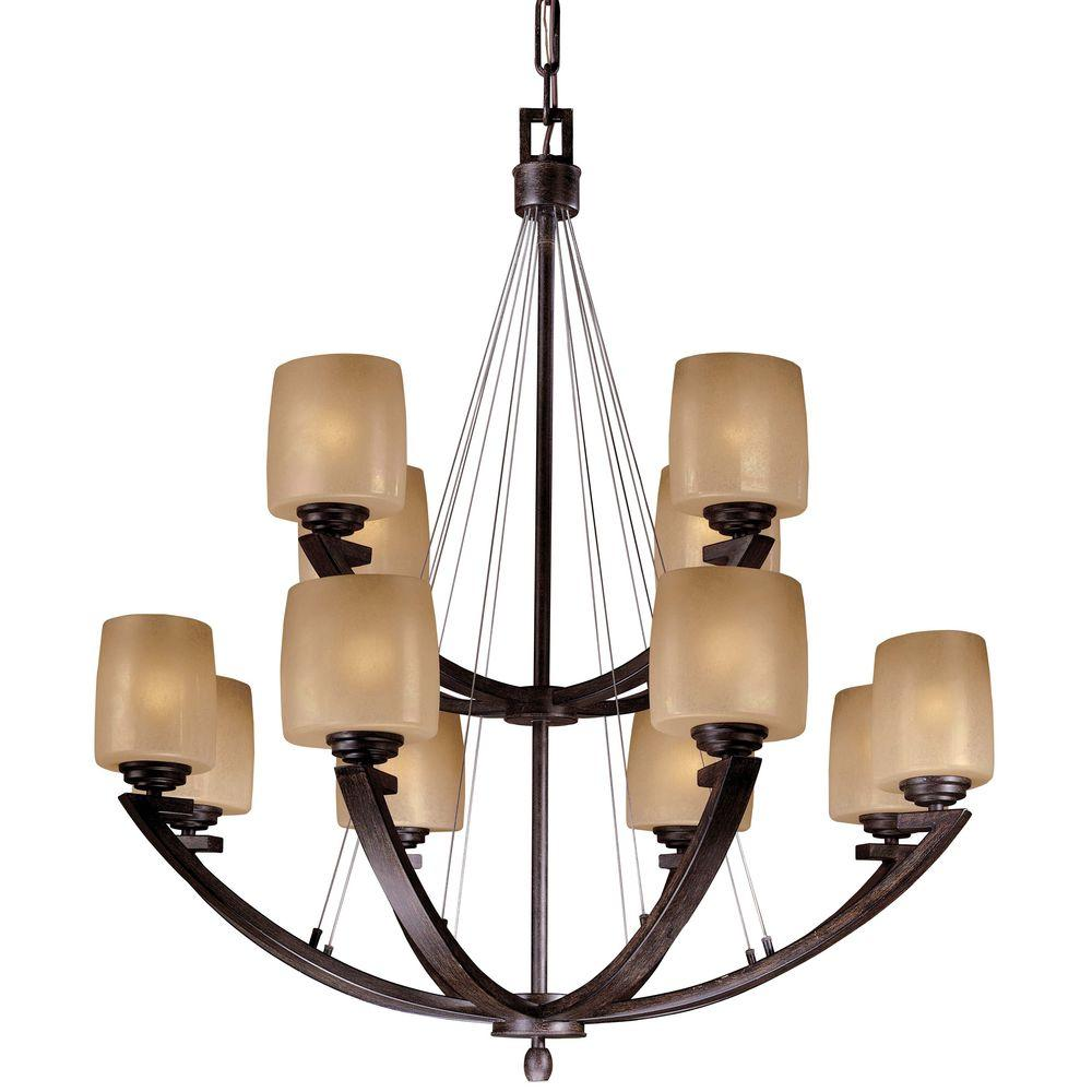 Minka Lavery Raiden 12-Light Iron Oxide Chandelier