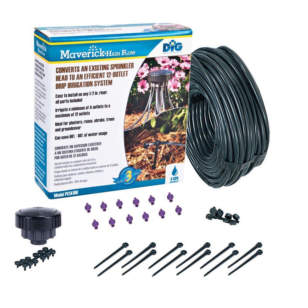 DIG Maverick 4 GPH 12-Outlet Drip Manifold Kit