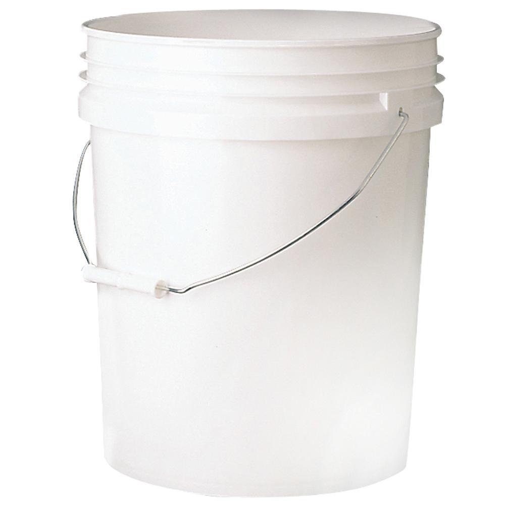 5 gal. 70mil Food Safe Bucket White