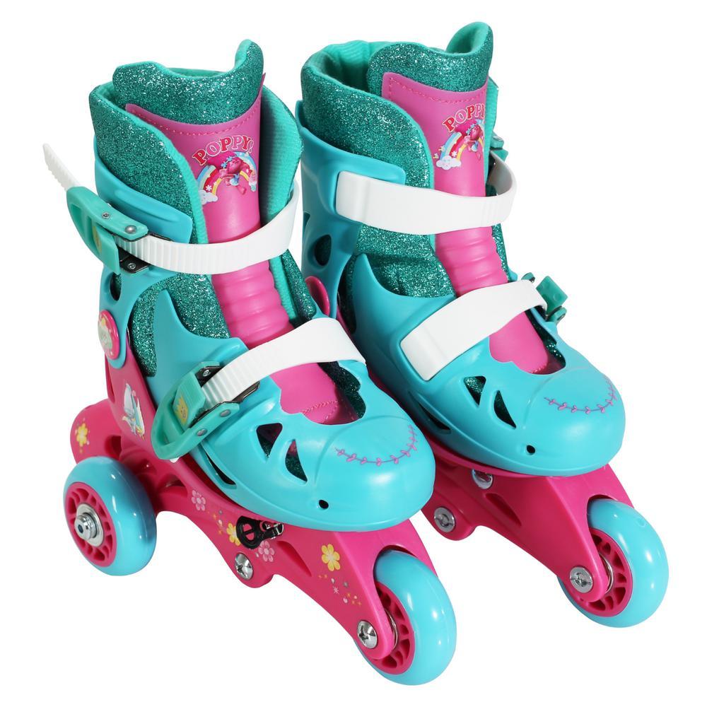 Trolls Junior Size 6-9 Convertible Roller Skates