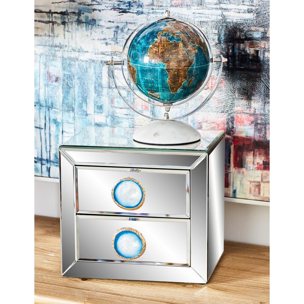 Mirrored 2-Drawer Rectangular Jewelry Box
