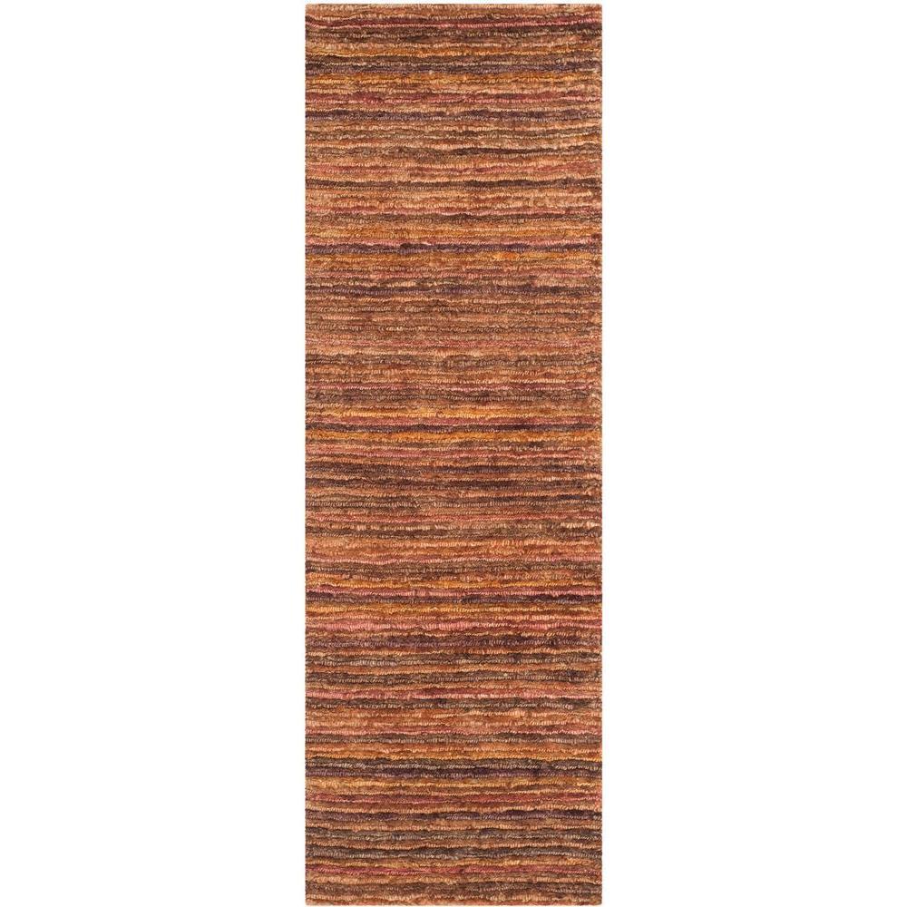 Organica Red/Multi 3 ft. x 10 ft. Runner Rug