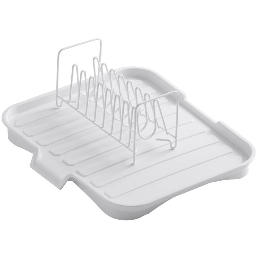 Kohler Drainboard With Wire Sink Bowl Rack In White