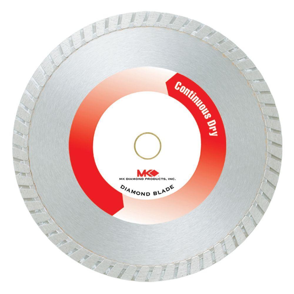 MK Diamond 10 in. Continuous Rim Dry Cutting General Purp...