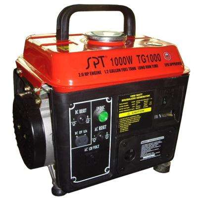 1000-Watt Gasoline Powered Manual Start Portable Generator