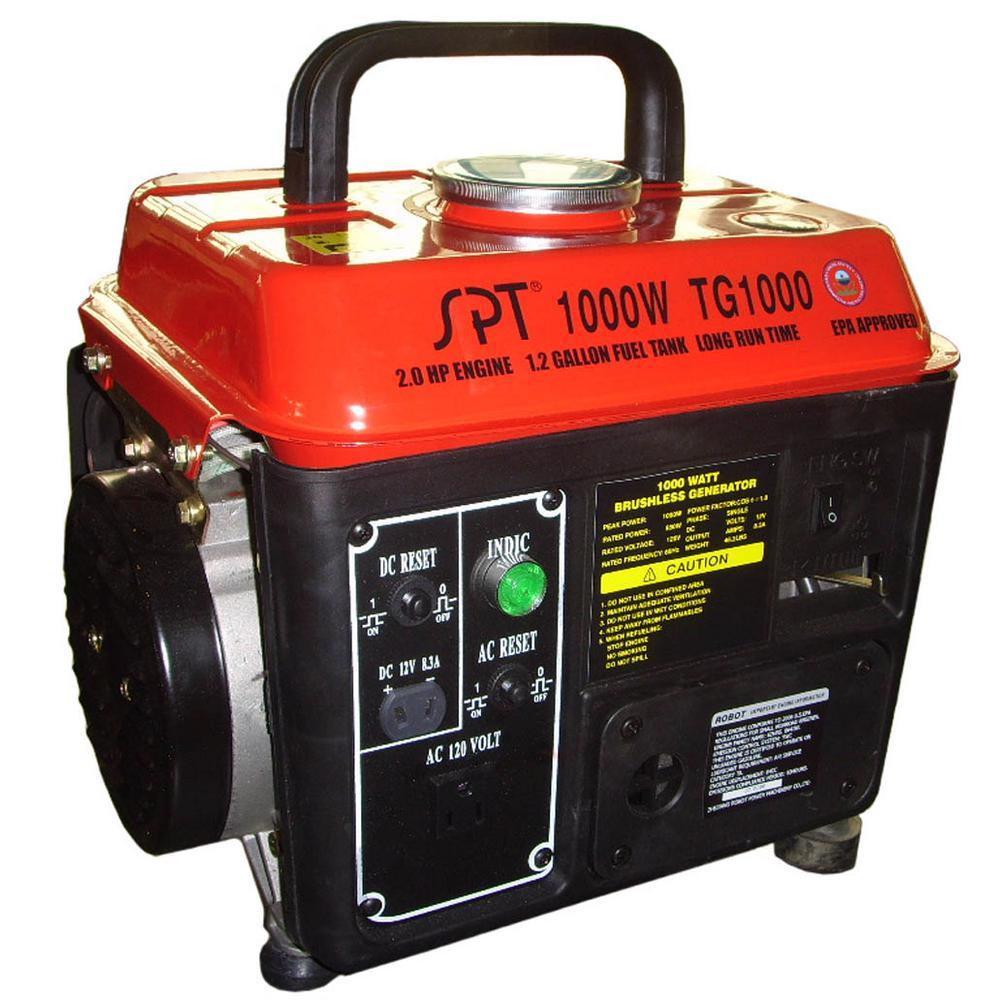 1000-Watt Gasoline Powered Manual Start Portable Generator