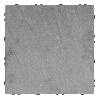 UltraShield 1 ft. x 1 ft. Slate Quick Deck Outdoor Tiles in Andes Mix (5 sq. ft. per Box)