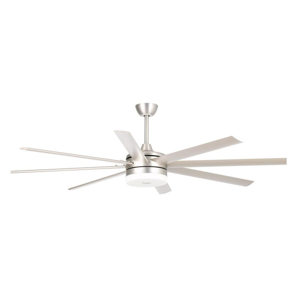 Parrot Uncle Kingsgrove 70 In Integrated Led Indoor Satin Nickel Ceiling Fan With Light Kit And Remote Control Bbb70 2315bc The Home Depot