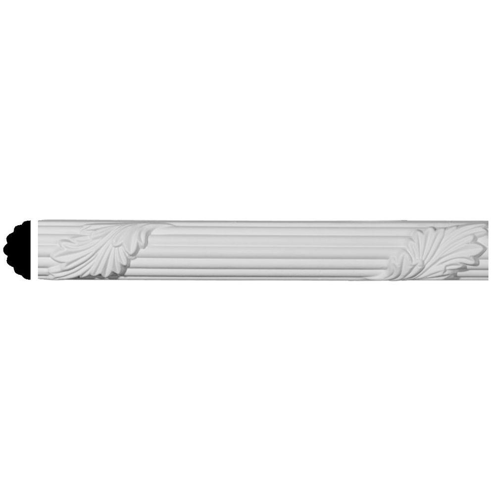 1-1/8 in. x 1-3/4 in. x 94-1/2 in. Polyurethane Reeded Acanthus