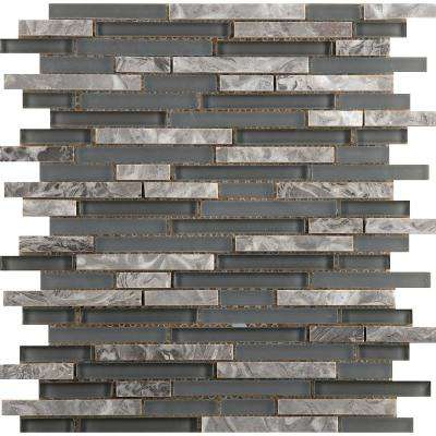 Lucente Concordia Gloss/Matte Mix 12.05 in. x 12.05 in. x 8mm Glass Mesh-Mounted Mosaic Tile
