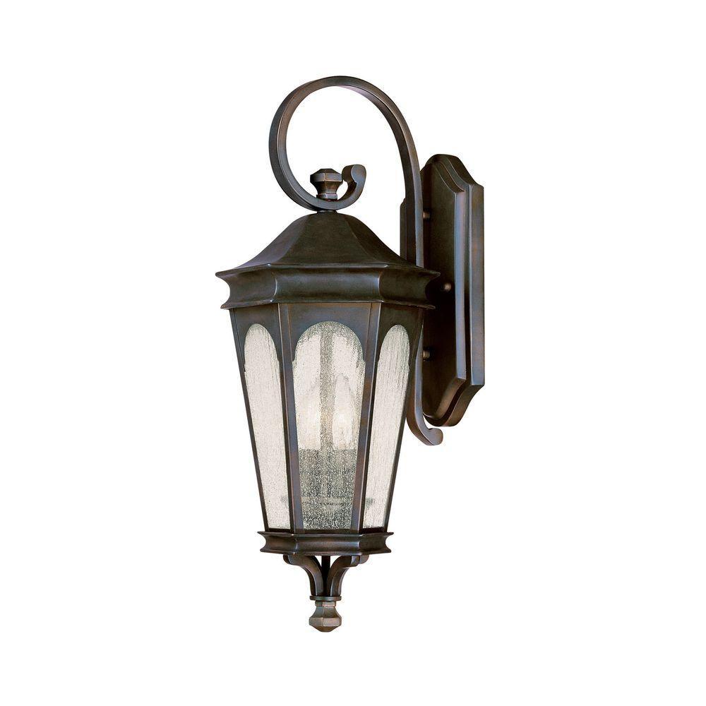 Johnson 2-Light Old Bronze Incandescent Outdoor Wall Lantern