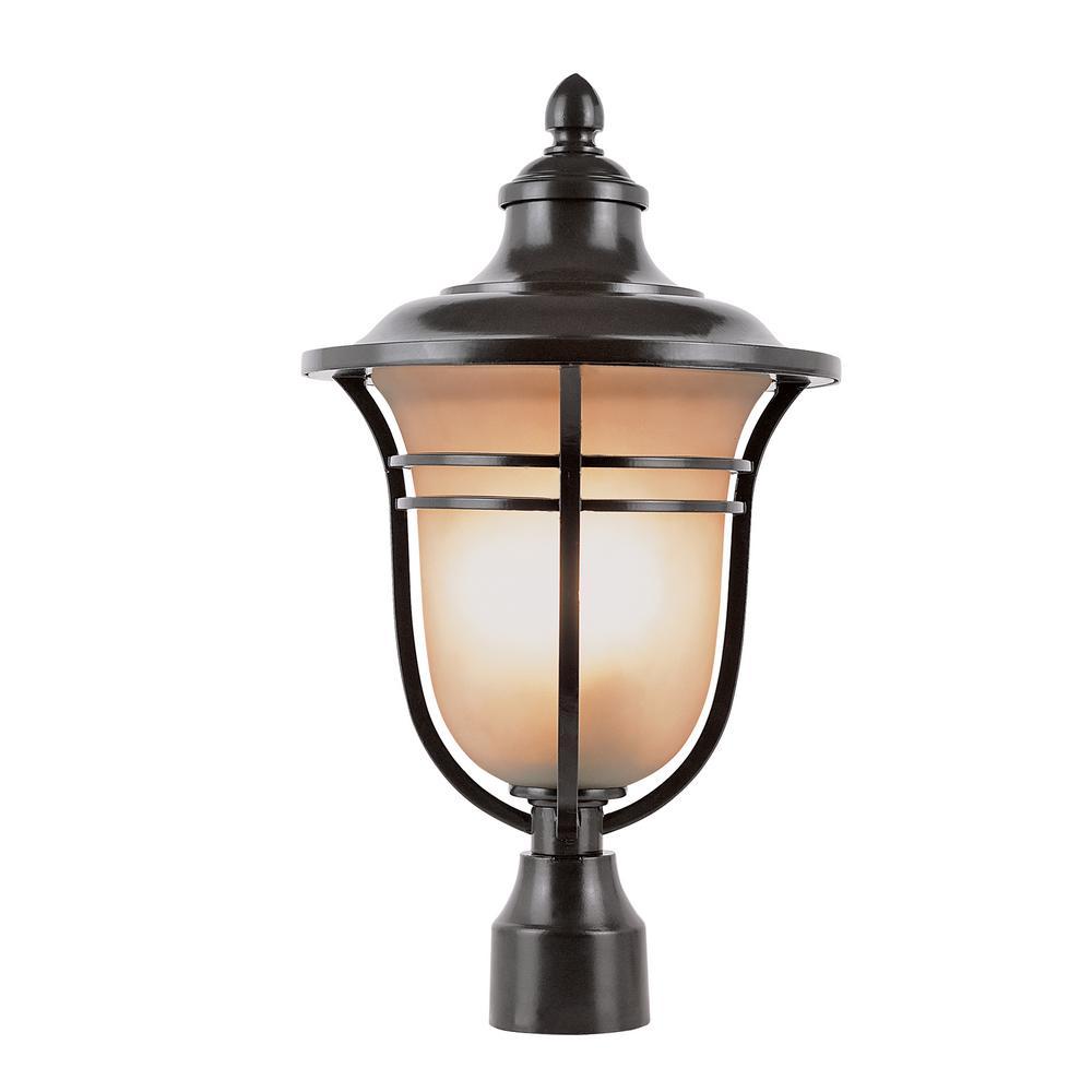 1-Light Outdoor Rubbed Oil Bronze Post Light