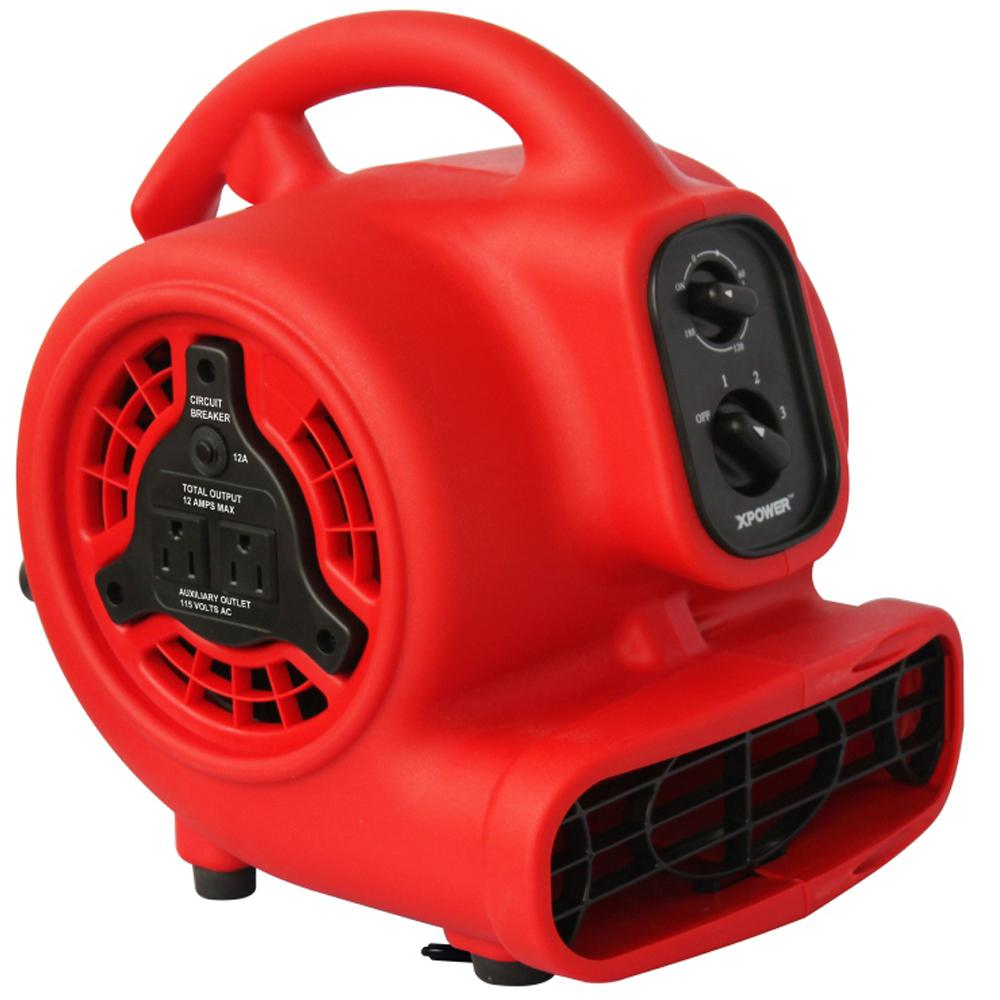 XPOWER Mini 600 CFM Blower Fan with Daisy Chain and 3-Hour Timer