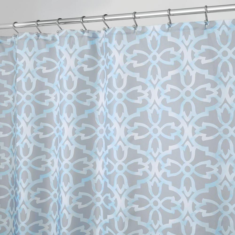 interDesign Adele SC 12 in. Gray Shower Curtain