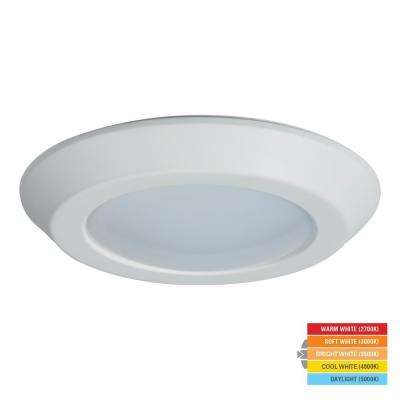 BLD 6 in. White Integrated LED Recessed Ceiling Mount Light Retrofit at Selectable CCT (2700K-5000K), Title 20 Compliant