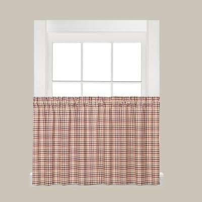 Dexter 36 in. L Polyester Tier Pair in Red
