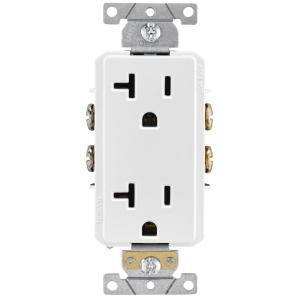 Prime Leviton 15 Amp 1 Gang Recessed Duplex Power Outlet White R52 00689 Wiring Digital Resources Operpmognl