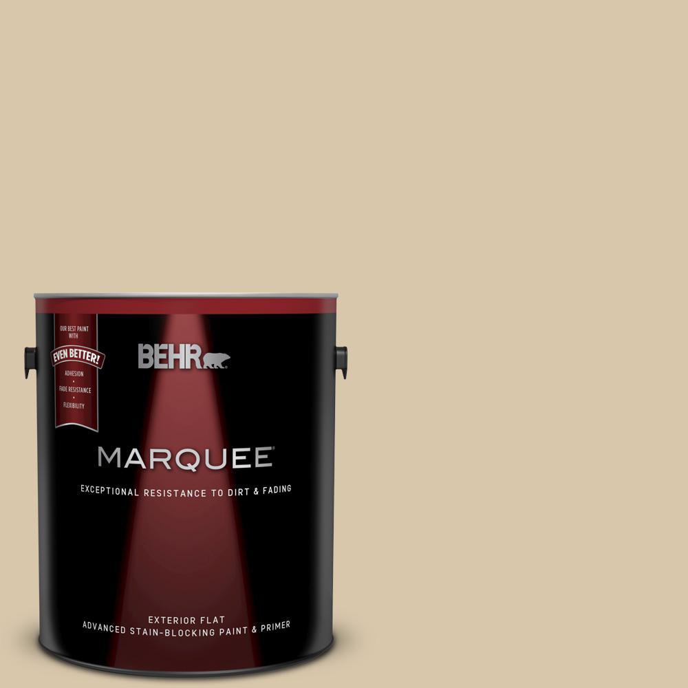 Behr Marquee 1 Gal Ecc 54 1 New Khaki Flat Exterior Paint And