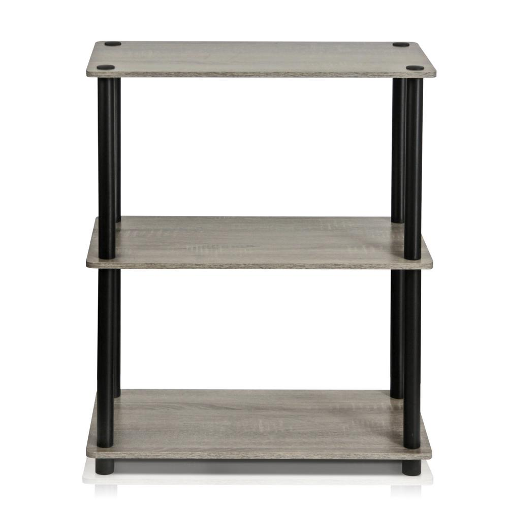 Turn-N-Tube French Oak Grey Compact Open Bookcase