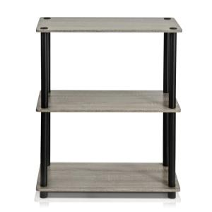 Turn-N-Tube French Oak Grey Compact Open Bookcase by