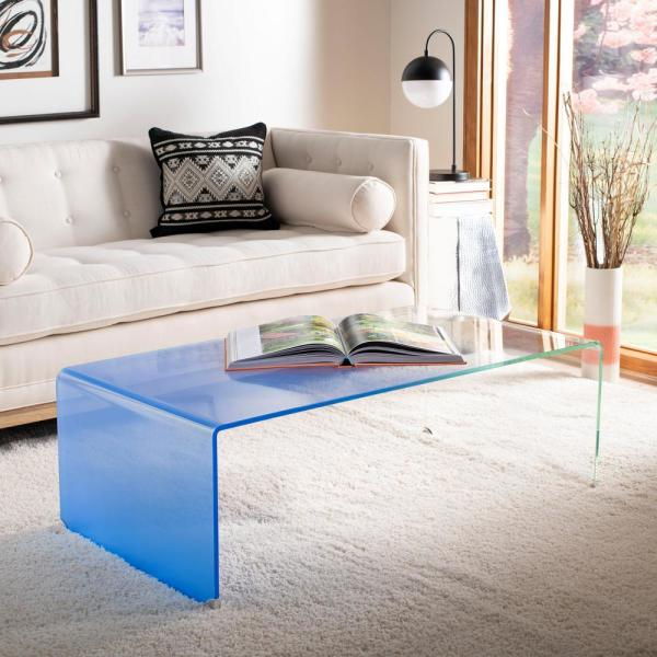 Crysta Clear/Blue Coffee Table
