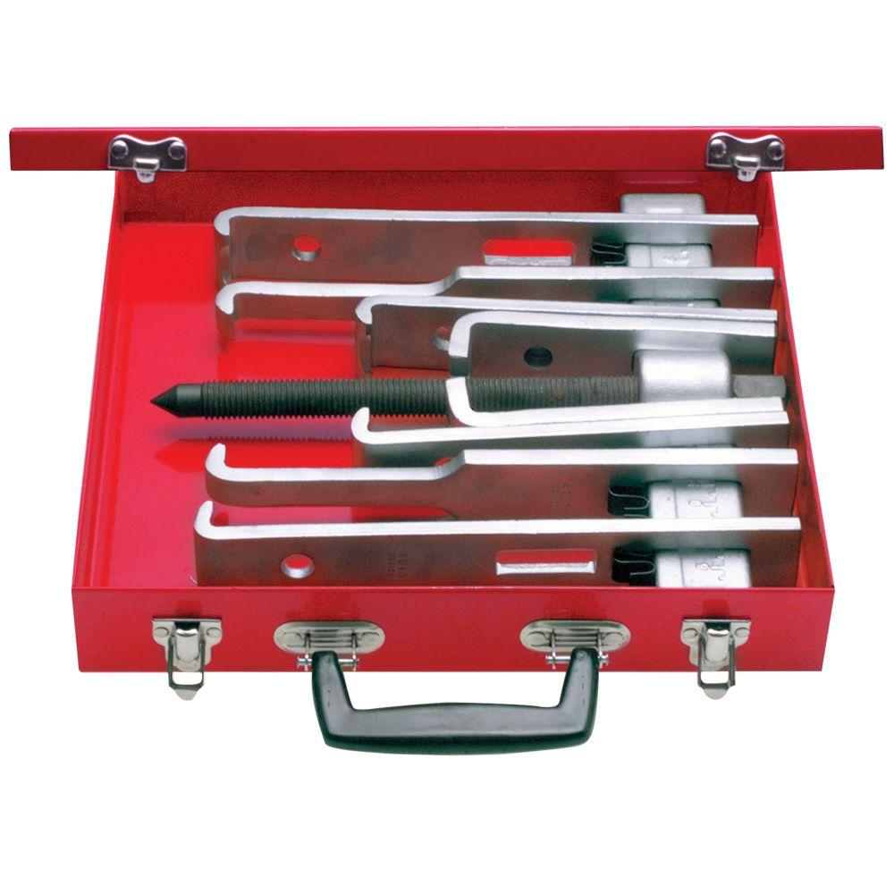 URREA 14 Piece Cased Set of 6 Ton 2 Arm Pullers With 8 Jaws