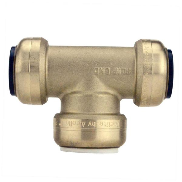 1 in. CTS x 1 in. CTS x 1 in. IPS Brass Push-To-Connect Slip Tee