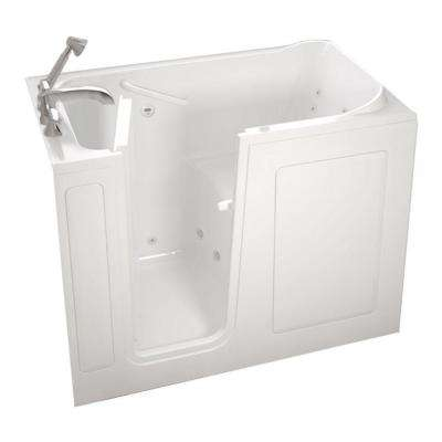Gelcoat Standard Series 48 in. x 28 in. Left Hand Walk-In Whirlpool Tub with Quick Drain in White