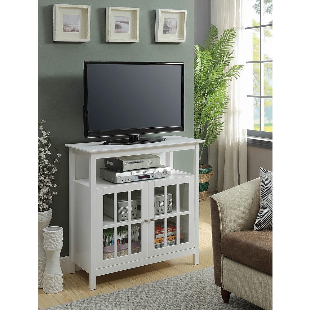 Convenience Concepts Big Sur White Highboy Tv Stand 8066070w The