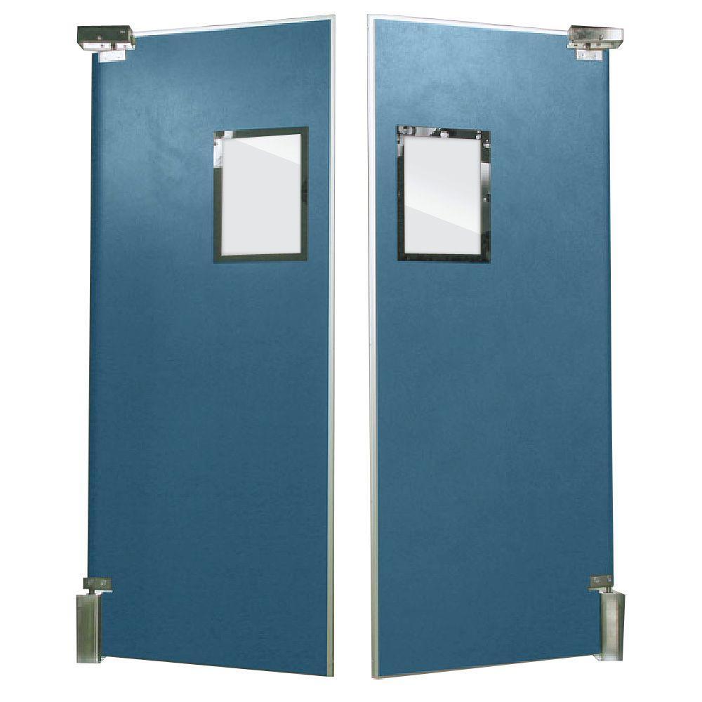 Aleco ImpacDor FS-500 3/4 in. x 60 in. x 96 in. Charcoal Gray Wood Core Impact Door